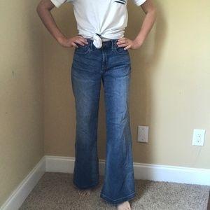 """NYDJ Wide Leg Trouser Jean Sz 2P 31"""" Ins Clean Hem"""